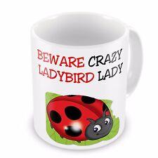 Beware Crazy LADYBIRD Lady Funny Novelty Gift Mug