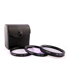 Jackar 49mm UV+CPL+FD Filter Set For Sony Zoom 18-55mm 55-210mm Primes 16 20mm