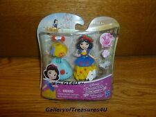"Disney Princess Little Kingdom FASHION CHANGE SNOW WHITE Snap-Ins 3"" Mini Doll"