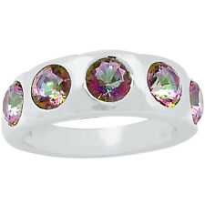 2.5cts Rainbow Topaz 925 Sterling Silver Ring Jewelry s.8 R5139MY-8