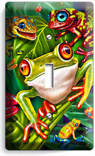 CUTE EXOTIC RAINFOREST TROPICAL TREE FROGS SINGLE LIGHT SWITCH WALL PLATE COVER