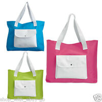 Ladies Beach Shoulder Bag Summer Holiday Tote Shopping Reuseable Handbag