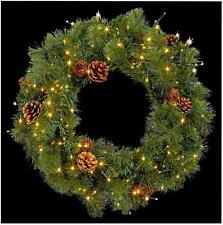 140 Warm White LED Wreath Lights Xmas Lights Indoor Outdoor Christmas Decoration
