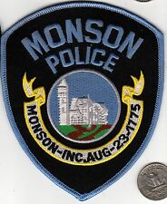POLICE PATCH MONSON POLICE Officer Cloth Badge Shield