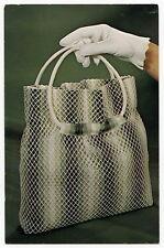 "Vintage Advertising Postcard: ""LATTICE LOOK Handbag"" [National Handcraft]"