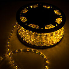 150FT LED Rope Light In/Outdoor Christmas Decorative Party Yellow 1620LEDS