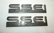 2000-2004 Pontiac Bonneville SSEi Supercharged door emblem pair used OEM logos