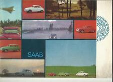 SAAB SEDAN, STATION WAGON AND MONTE CARLO 850 SALES BROCHURE 1966