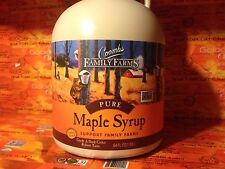 2 half gallons(128oz) Coombs Pure Maple Syrup, Grade A Dark Robust, GF, exp 2017