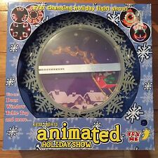 RARE Animated Christmas Holiday Light Show Window Door or Table Top NEW