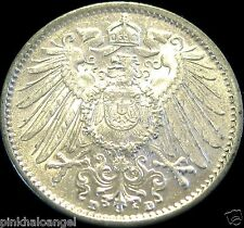 Germany - German Empire - German 1915D Silver Mark Coin - Rare High Grade