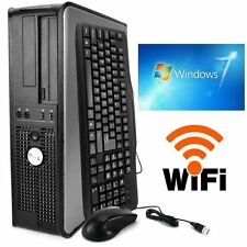 Refurbished Dell Desktop Computer PC Dual Core 3.4Ghz 4GB 250GB Windows 7 64 Bit