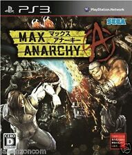 Used PS3 MAX ANARCHY SONY PLAYSTATION 3 JAPAN JAPANESE IMPORT