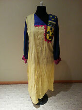 Women long yellow blue shirt dress by Zahra ahmao size M free ship