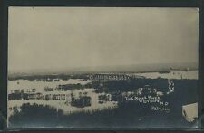ND Westhope RPPC c.09 MOUSE or SOURIS RIVER & BRIDGE Chambers Studio for Golden