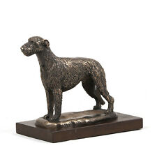 Irish Wolfhound, dog bust/statue on wooden base, ArtDog Limited Edition, CA
