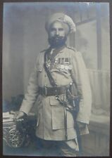 Indian Sikh Soldier With Medals 1920 7x5 Inch Reprint Photo