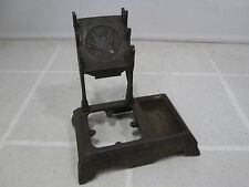 Antique Cast Iron Eastlake Style Ink Well- No Glass Parts