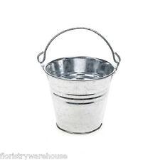 Decorative Galvanised Bright Metal Bucket 8cm/3 inches high