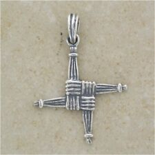 "St Brigid's Cross Celtic Irish Pendant Silver - with 18"" Chain - .925 Sterling"