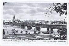 Warschau Warszawa Deutsche Besetzung Stadtbrücke Ansicht auf Praga Akropol