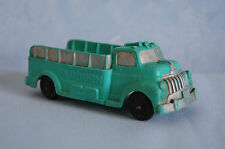 Vintage Auburn green rubber stake bed delivery pickup truck #518