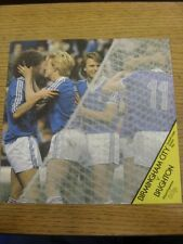 07/02/1981 Birmingham City v Brighton and Hove Albion (pliegue luz/Trus veces).