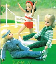 "12""  Dolls clothes knitting pattern.  Laminated copy.( V Doll 119)"