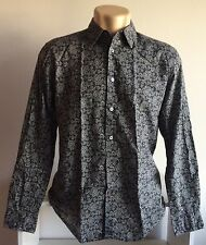 JOHN VARVATOS USA Shirt - Black Paisley Long Sleeve - M - Designer Punk Grunge 1