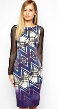 Karen Millen Zig Zag Dress Size 14