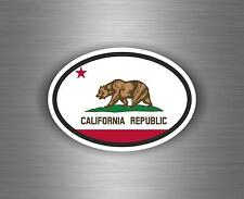 Sticker car moto motorcycle vinyl code country oval california flag auto