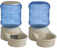 LARGE DELUXE AUTOMATIC 16LB DOG FEEDER AND 16QT WATERER COMBO DISH, JUG, BOWL