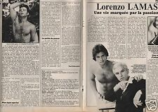Coupure de presse Clipping 1987 Lorenzo Lamas  (4 pages)