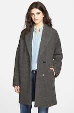 7 For All Mankind Textured Drop Shoulder Coat (Size 6)