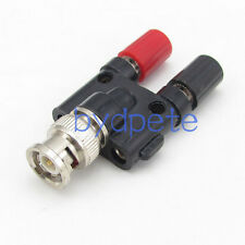 T type one BNC male male to double banana plug head RF Coaxial Connector Adapter