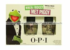 NICOLE*OPI 2pc Nail Polish Set WHEN FROGGY MET PIGGY Muppets Most Wanted LACQUER