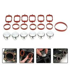 For BMW E60/E61 525d 525xd 535d 6Pcs 33mm Diesel Swirl Flap Bungs + Gaskets T3K9