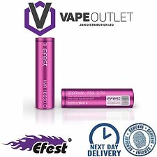 2x GENUINE EFEST 3000 MAH 35 AMP BATTERY LI-MN PURPLE 18650 IMR HIGH DRAIN VAPE