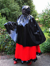 Lackcape,Lackpellerine,Maskencape,Vinylcape, Cape with Mask,Unisex