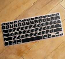 Russian Black Silicone Keyboard Cover for Apple Macbook Retina Pro 13 15 17