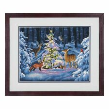 Dimensions D70-08922 Woodland Glow Christmas Counted Cross Stitch Kit 36 x 28cm