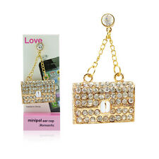 Deluxe Diamond Bling Purse Charm 3.5mm Earphone Jack Plug For Cell Phones