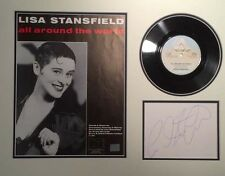 LISA STANSFIELD (ALL AROUND THE WORLD) SIGNED AUTOGRAPH