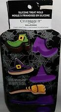 CELEBRATE IT  Silicone Halloween Treat Mold WITCHES' BROOM,HAT SHOE AND CAULDRON