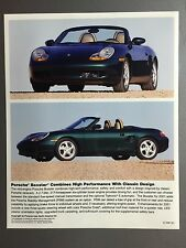 2001 Porsche Boxster Roadster Full Color Press Photo Factory Issued RARE