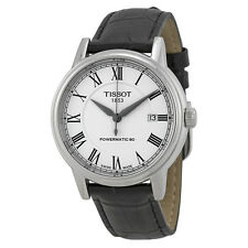 Tissot T-Classic Carson White Dial Black Leather Mens Watch T0854071601300