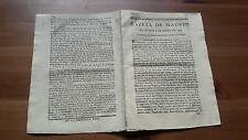 1793 Gazeta de Madrid Núm 3 del Martes 8 de Enero, Valladolid Barcelona...