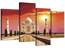 Islamic Canvas Art Prints of Taj Mahal for Living Room - Set of 4 - Agra