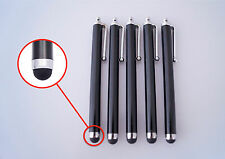 5 x Stylus Touchpen schwarz Eingabestift Smartphone Tablet iPhone Samsung iPad