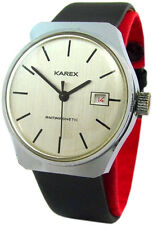 Karex Handaufzug mechanische Herrenuhr Date Datum men gents watch mechanical